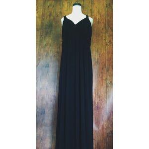 Design History Black Maxi Dress w/ Braided Straps